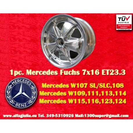 Mercedes Fuchs 7x16 ET23.3 5x130 full polished