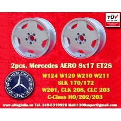4 pcs. Mercedes AMG Aero style 8x17 ET28 5x112 wheels