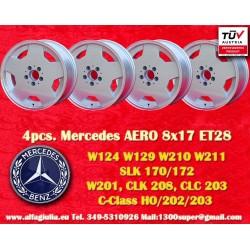 4 pz. llantas Mercedes AMG Aero style 8x17 ET28 5x112