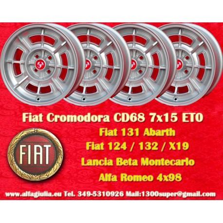 4 Stk. Fiat Cromodora CD68 7x15 ET0 4x98
