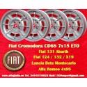 4 pcs jantes Fiat Cromodora CD68 7x15 ET0 4x98