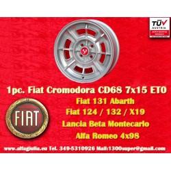 1 pc. Fiat Cromodora CD68 7x15 ET0 4x98 wheel