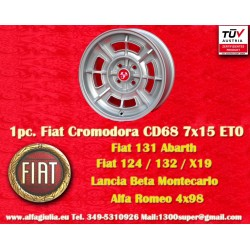 1 Stk. Felge Fiat Cromodora CD68 7x15 ET0 4x98