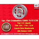 1 pc. Cerchio Fiat Cromodora CD68 7x15 ET0 4x98
