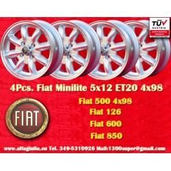 1 pc. Fiat 5x12 ET20 4x98 wheel