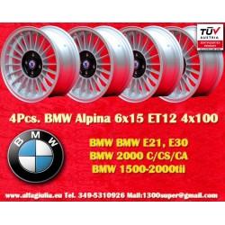 4 pz. Llantas BMW Alpina 6x15 ET12 4x100