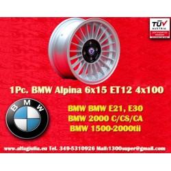 1 Stk. Felge BMW Alpina 6x15 ET12 4x100