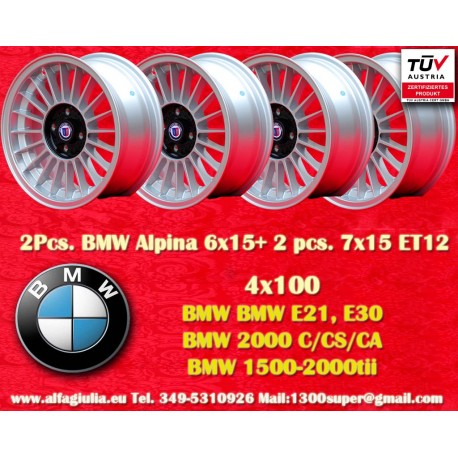 BMW Alpina 6x15/7x15 ET12 4x100 wheel