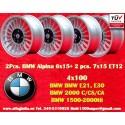 2 Stk. Felgen BMW Alpina 6x15 + 2 Stk. Felgen Alpina 7x15 ET12 4x100