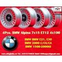 4 pz. Llantas BMW Alpina 7x15 ET12 4x100