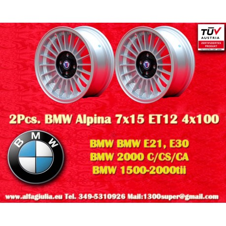 2  pcs. BMW Alpina 7x15 ET12 4x100 wheel