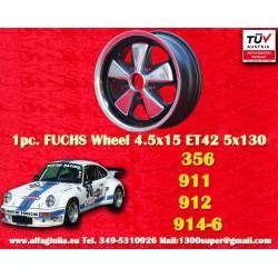 1pc. Porsche 356C, 911, 912, 914-6 Fuchs 4.5x15 ET42 5x130 wheel