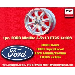 1 Stk. Felge Ford Minilite 5.5x13 ET25 4x108