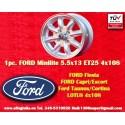 1 pc. Ford Minilite 5.5x13 ET25 4x108 wheel