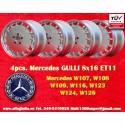 4 pcs. Jantes Mercedes Gullideckel 8x16 ET11 pour les voitures Mercedes