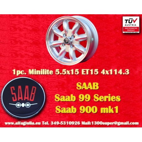 Saab Minilite 5.5x15 ET15 4x114.3