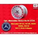 1 pz. llanta Mercedes Gullideckel 8x16 ET34 para coches Mercedes