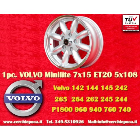 Volvo Minilite 7x15 ET20 5x108 wheel