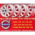 4 pcs. jantes Volvo Minilite 7x15 ET20 5x108