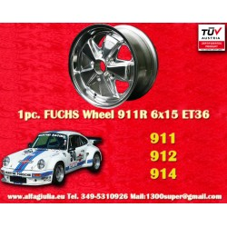 1 pc. Porsche 911 Fuchs 6x15 ET36 5x130 full polished wheel