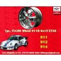 1 pc. cerchio Porsche 911 Fuchs 6x15 Deep Six ET36 5x130 full polished