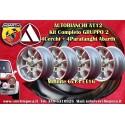 4 Jantes Minilite 6x13 Autobianchi A112 + Garde-boue Abarth