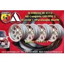 4 wheels Minilite 7x13 Autobianchi A112 + Mudguard abarth