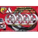 4 pcs. jantes A112 Cromodora CD30 5.5x13 Abarth wheels + garde-boues