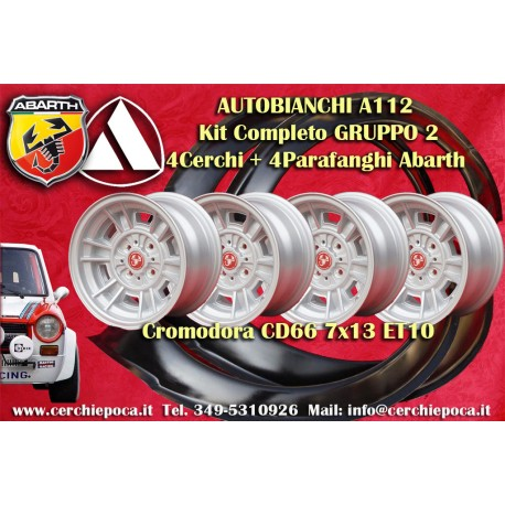 4 Llantas Cromodora CD66 Autobianchi A112 + Guardabarros Abarth