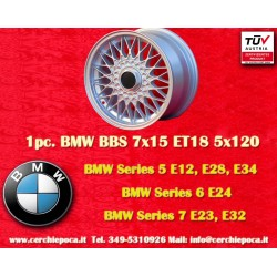 1 pc. Jante BMW BBS X Spoke 7x15 ET18 5x120
