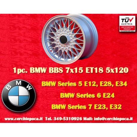 1 pc. BMW BBS X Spoke 7x15 ET18 5x120 wheel