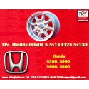 1 pc. Minilite style 5.5x13 ET25 5x130 wheel