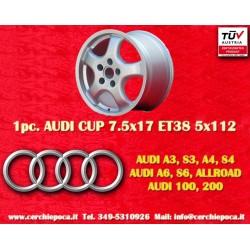 1 pz. llanta Audi A3 A4 A6 100 200 7.5x17 TÜV