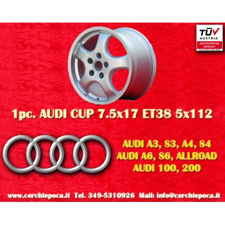 4 PCS Audi Cup wheels 7.5x17 5x112 TÜV