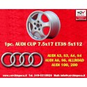 1 pc. Audi Cup wheel 7.5x17 5x112 TÜV wheels