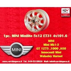 1 pc. Jante Mini Minilite style 5.5x12 ET31 4x101.6