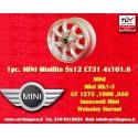 1 Stk Felge Mini Minilite style 5x12 ET31 4x101.6