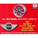 1 pc. Mini Minilite style 5x12 ET31 4x101.6 wheel