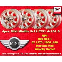 4 pcs. Jantes Mini Minilite style 5.5x12 ET31 4x101.6