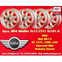 4 Stk Felgen Mini Minilite style 5x12 ET31 4x101.6