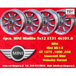 4 pcs. Mini Minilite style 5x12 ET31 4x101.6 wheels