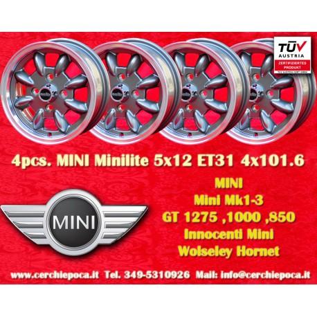 4 pz. llantas Mini Minilite style 5x12 ET31 4x101.6