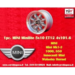 1 pcs. Mini Minilite style 5x10 ET12 4x101.6 wheel