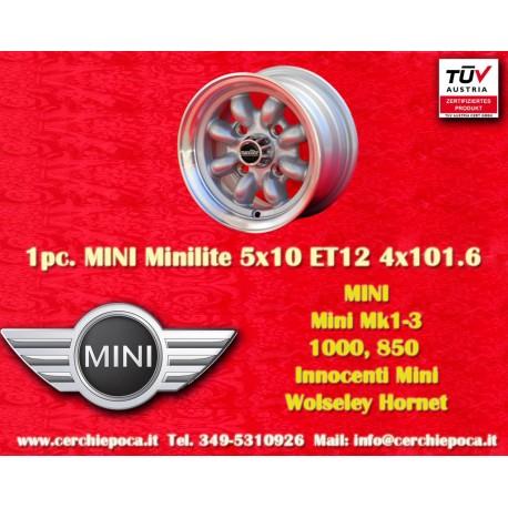 1 pcs. Mini Minilite style 5x10 ET12 4x101.6 wheel