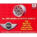 1 pc. Mini Minilite style 5x10 ET12 4x101.6 wheel