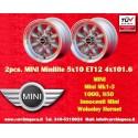 2 pcs. Jantes Mini Minilite style 5x10 ET12  4x101.6