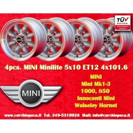 4 pcs. Jantes Mini Minilite style 5x10 ET12 4x101.6