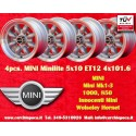 4 Stk Felgen Mini Minilite style 5x10 ET12 4x101.6