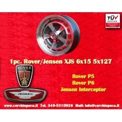 1 Stk. Felge Rover P5 P6, Jensen Interceptor 6x15 ET35 Lk. 5x127 TÜV