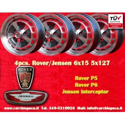 4 cerchi Rover P5 P6, Jensen Interceptor 6x15 5x127 TÜV